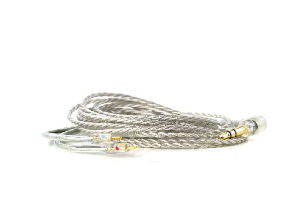 Clear Alclair Two Pin cable for in-ear monitors.
